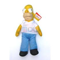 Peluche Homero Simpson Importado Etiqueta 44cm Fotos Reales