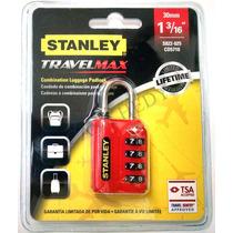 Candado Stanley Combinacion 30 Tsa S822-025 Cd5710 Travelmax