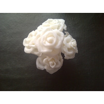 Flores Porcelana Fría Para Souvenirs Torta Novia 15 Años Etc