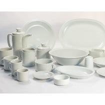 Tetera + Azucarera +lechera Tsuji Porcelana Blanca Ss