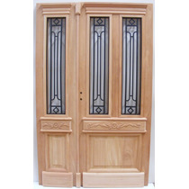 Puerta Y Media Antigua Doble De 1.24 X 2.00 - Fabrica -