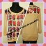 Sweater De Hilo Y Frente De Seda