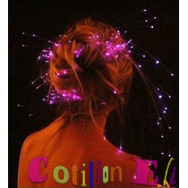 Cotillon Combo 15 Extensiones Luminosas Fibra Optica