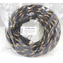 Cable Hdmi 30metros Dorado 1080p Filtro Máx.calidad Oferta
