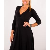 Vestido Modal T2 T3 Y T4 Corte Princesa Divino Amplio Drapea