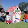 Casa De Juegos Casitas Infantiles Cartón Armar Pintar Niños
