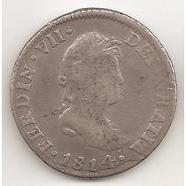 Mexico Colonial, 2 Reales, 1814. Plata. Vf / Vf-
