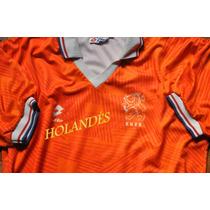 Camiseta Naranja Mecanica 1990 Xl Van Vasten Lotto Original