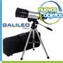 Telescopio 300x70 Refractor Galileo Con Bolso + Brújula