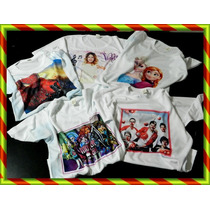 Remeras Frozen One Direction Monster High Violetta Minion