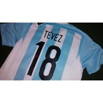 Camiseta Afa Argentina #18 Tevez #14 Mascherano Y Otros