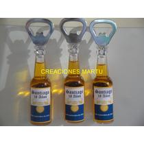 Souvenir Botellita Destapador Corona Personalizada