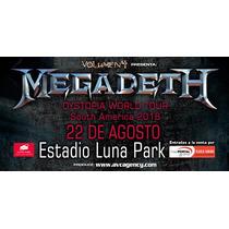 Entrada Megadeth Argentina Campo Luna Park