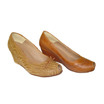 Zapatos De Cuero Taco Chino Punta Abierta Feliz Día Mamá!!!