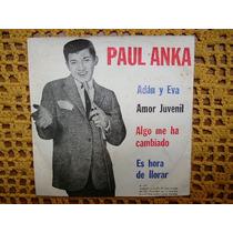 Paul Anka / Adan Y Eva Amor Juvenil - Ep De Vinilo Con Tapa