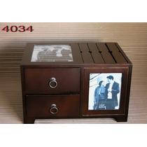 Caja De Fotos 13x18 Con 2 Cajones Importada