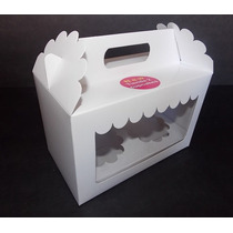 Caja Cupcake Doble Cartulina Con Doble Visor (pack 25u)