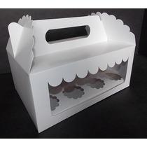 Caja 12 Minicupcakes Cartulina Con Doble Visor (pack 12u)