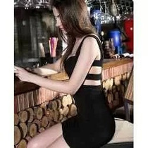Vestido Importado Negro Corto Con Espalda Descuebierta