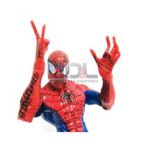 Hombre Araña Spiderman Muñeco Articulado 15cm Marvel Con Luz