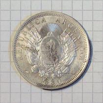 Argentina 1 Patacon 1880 Ensayo (ver Catalogo) 25 Grms Ca