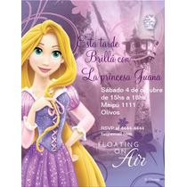 Tarjetas Invitaciones Rapunzel Infantiles Únicas!! X 12