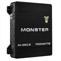 Potencia Amplificador Monster M350 700 Watts 200rms Auto 12v