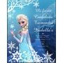 Tarjetas Invitaciones Frozen Infantiles Únicas!! X 18 Unid