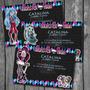 Kit Imprimible Tarjetas Invitacion Monster High Cumpleaños