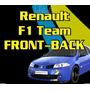 Ploteo Calco Renault F1 Team Megane - Front Back