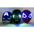 Máscara Luz Led Avengers Spiderman Hulk Cap América Marvel
