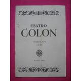 Programa Teatro Colon Temporada 1946 - Vidala
