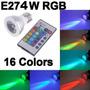Lampara Led E27 3w Rgb C/contro Remoto 16 Colores Rgb 3w 220
