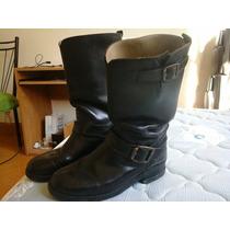 Botas De Cuero Negras Charro N43