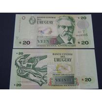 Billete De Uruguay - 20 Pesos Uruguayos - 2011 - Unc