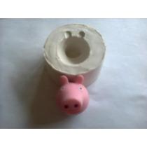 Molde De Caucho De Silicona, Peppa Pig Y Amigo,