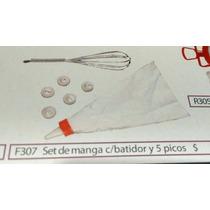 Set De Manga Con Batidor De Aluminio Y 5 Picos