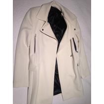 Tapado Blanco Zara Talle S Mujer