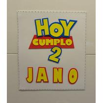 Toy Story De Cartel Cumpleaños Para La Puerta 30x30 Goma Eva