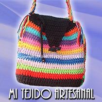 Simpáticas Carteras Tejidas Al Crochet