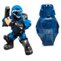 Minifigura Halo Spartan Azul Con Drop Pod Mega Bloks Nuevo