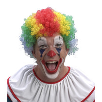 Peluca De Payaso Multicolor Halloween Disfraz