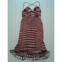 Vestido Tejido Hilo De Seda Con Detalles De Crochet
