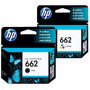 Combo Cartuchos Hp 662 Negro+color Originales 3515 2515 1515