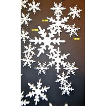 16 Copos De Nieve Telgopor Medidas Coombinadas, Frozen
