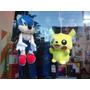 Peluche Sonic/ Pikachu