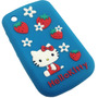Funda Silicona Hello Kitty Blackberry 8520 9300 Mod76 Azul