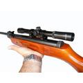 Rifle Aire Comprimido Castor + Mira 4x20 + Balines + Blancos