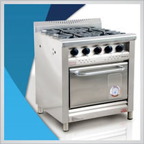 Cocina Industrial Morelli 750 / 75 Cm C/rejas De Fundicion