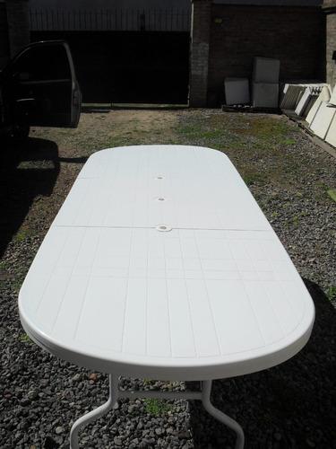 Mesa Plastica De Jardin Extensible Para 8/10 Personas - $ 5466 en ...